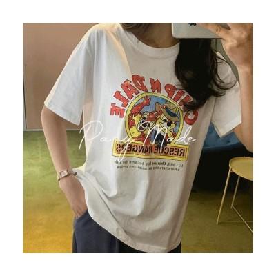 FREEPANY レディース ショートスリーブ Chip and Dale T-shirt