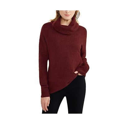 Woolen Bloom Women's Cowl Neck Sweater Roll Neck Long Sleeve Pullover Tops