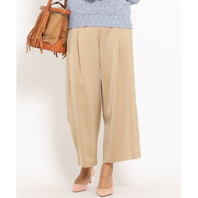 【ドロワット ロートレアモン】 DRESS STRIPEサテンスリットワイドパンツ レディース ベージュ系 40(3) Droite Lautreamont