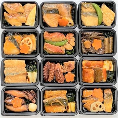 レンジで簡単!骨とり煮魚12種詰合せ(魚道楽)