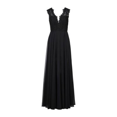 WANNA ROMANÒ ロングワンピース&ドレス ブラック 48 ポリエステル 100% ロングワンピース&ドレス