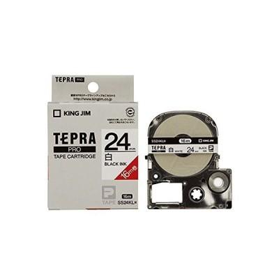 (まとめ) キングジム テプラ PRO テープカートリッジ ロングタイプ 24mm 白/黒文字 SS24KL 1個 【×3セット】 ds-15