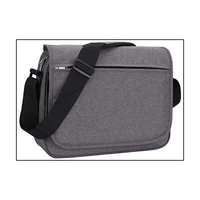 MIER メッセンジャーバッグ 15.6インチ ラップトップ ショルダー 斜め掛けバッグ 複数のポケット, グレー-長方形