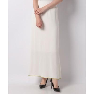 (Q/キュー)マーメイドニットスカート/レディース ホワイト