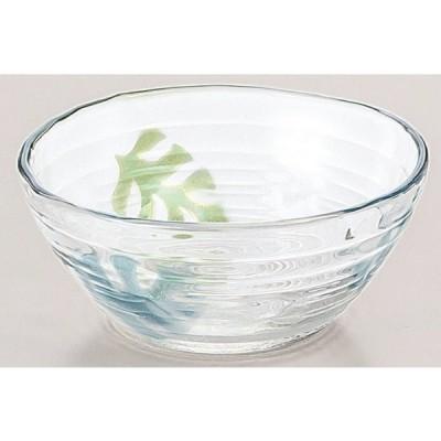 鉢 モンステラ柄 ガラスの小鉢 3個入り