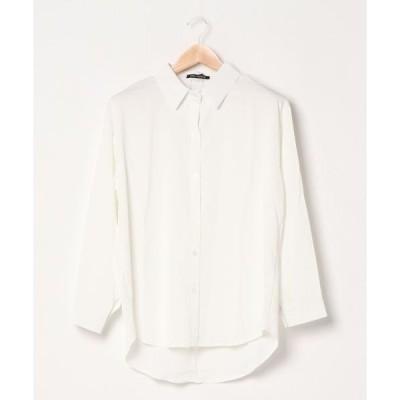 シャツ ブラウス マットサテンシャツ