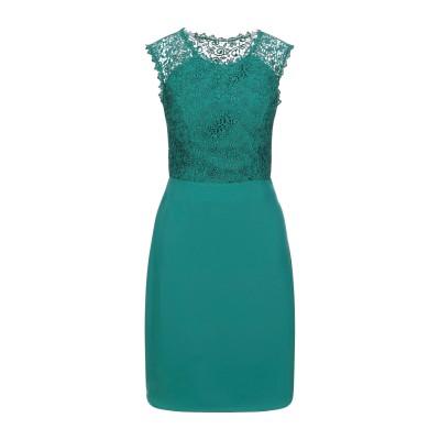SOANI ミニワンピース&ドレス グリーン 42 ポリエステル 100% ミニワンピース&ドレス