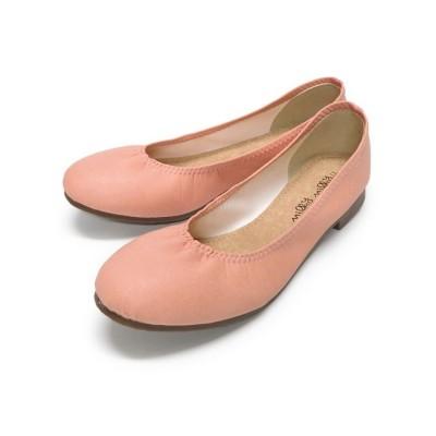 【フットプレイス】 ぺたんこバレエシューズ IM-23010 レディース ピンク S FOOT PLACE