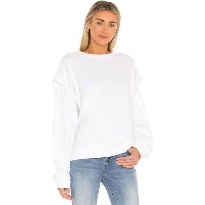 ピストーラ PISTOLA レディース スウェット・トレーナー トップス Lenora Flange Sweatshirt Le Blanc