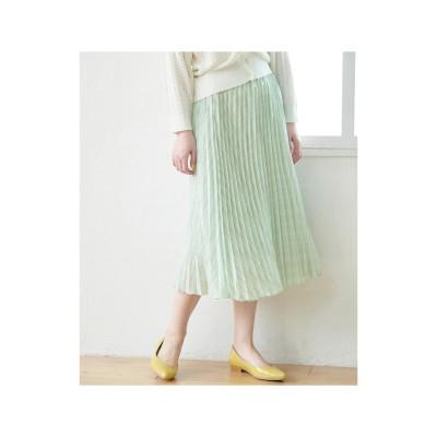 ROPE' PICNIC チェック柄プリーツスカート(ライトグリーン(33))【返品不可商品】