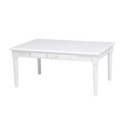 ローテーブル 座卓 引出し付 姫系 ロマンチック 幅90cm (  センターテーブル テーブル 机 完成品 コーヒーテーブル 引き出し 収納 デスク 長方形 リビング 木製 )