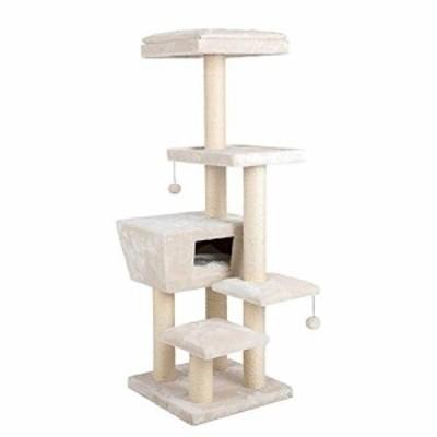 YM 取り外し可能な純木猫登山フレーム猫木毛家ペット用品猫ボールおもちゃ(新古未使用品)
