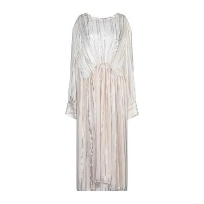 イロ IRO 7分丈ワンピース・ドレス ホワイト 40 シルク 88% / 金属繊維 12% 7分丈ワンピース・ドレス