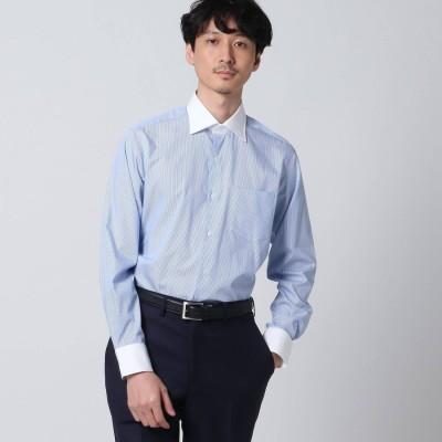 タケオ キクチ TAKEO KIKUCHI ロンドンストライプクレリックシャツ (ライトブルー)