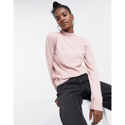 オブジェクト レディース ニット・セーター アウター Object Thess turtleneck longsleeve knit sweater in pink