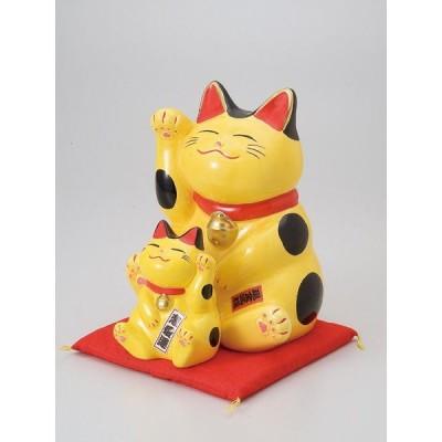 / 縁起物孫猫(バンク)黄 /和食器