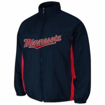 Majestic マジェスティック スポーツ用品  Majestic Minnesota Twins Youth AC Double Climate Full Zip Jacket - Navy Bl