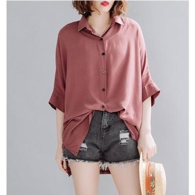 春夏新作 ファッション 人気ワイシャツ ブラック アカ2色展開
