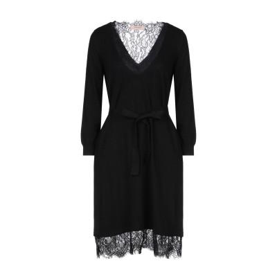 ツインセット シモーナ バルビエリ TWINSET ミニワンピース&ドレス ブラック XS レーヨン 44% / ナイロン 40% / ウール 13