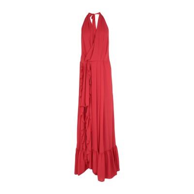 BABYLON ロングワンピース&ドレス レッド 44 ナイロン 100% ロングワンピース&ドレス