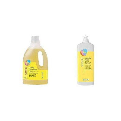 セット買いソネット SONETT 洗濯用洗剤 色柄物用 オーガニック 7種のハーブ ナチュラルウォッシュリキッドカラー 1.5L & SON