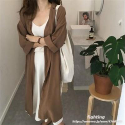 レディース シャツ ワンピース 体型カバー ドレス ロング シャツ おしゃれ ゆったり エレガント 韓国ファッション 着痩 ベルト付き
