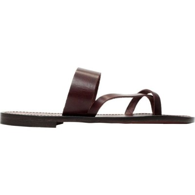 ラルティジャーノ デル クオイオ L'ARTIGIANO DEL CUOIO メンズ ビーチサンダル シューズ・靴 flip flops Brown