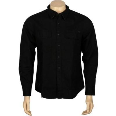 ハフ ユニセックス 服  HUF Potrero Long Sleeve Shirt (black)