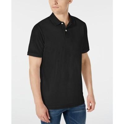 ダナ キャラン ニューヨーク ポロシャツ トップス メンズ Men's Stackable Regular-Fit Polo Shirt Black