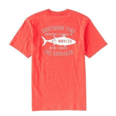 サウザーンタイド メンズ Tシャツ トップス Coastal Lifestyle Skipjacket Short-Sleeve Tee Heather True Red