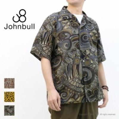 [SALE セール] ジョンブル JOHNBULL パターンオープンカラーシャツ 13613 メンズ 半袖 ゆったり 開襟 総柄 [返品・交換不可]