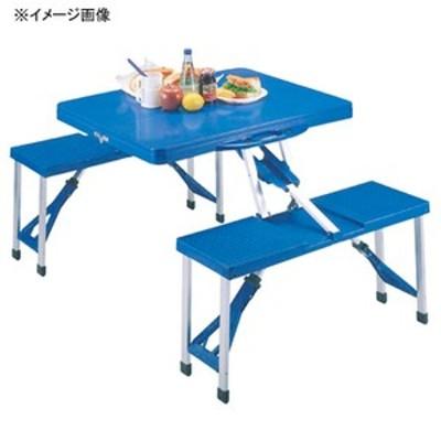 キャプテンスタッグ アウトドアテーブル アルミピクニックテーブル   ブルー