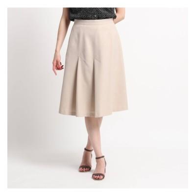 【スーナウーナ/SunaUna】 【洗える】斜め切替えデザインフレアスカート