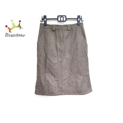 ダックス DAKS スカート サイズ40 L レディース ダークブラウン     スペシャル特価 20200823