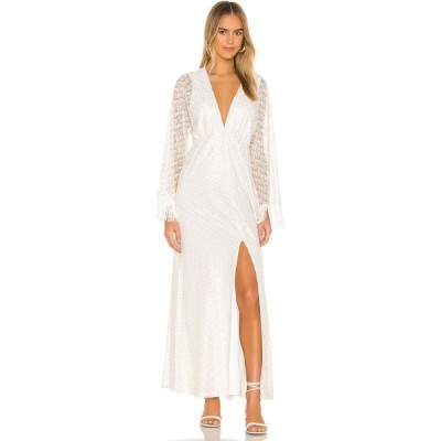 ハウスオブハーロウ1960 House of Harlow 1960 レディース ワンピース マキシ丈 ワンピース・ドレス x REVOLVE Priya Maxi Dress White/Gold