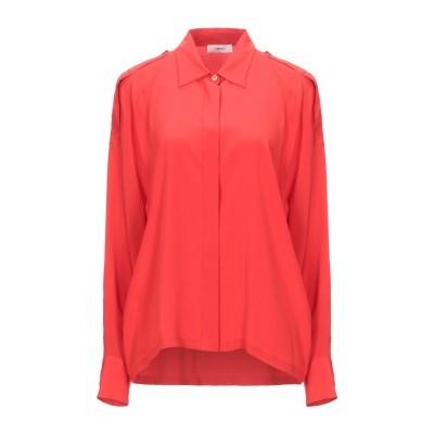 マウロ グリフォーニ MAURO GRIFONI シャツ レッド 46 アセテート 69% / シルク 31% シャツ