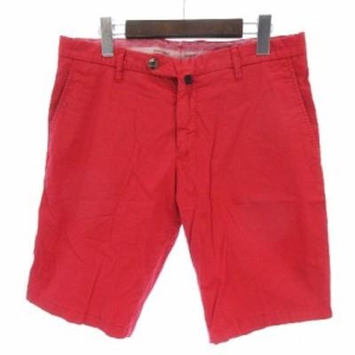 【中古】J.W.BRINE ジェイダブリューブライン ショーツ ショートパンツ コットン 赤 レッド 48 IBS88 メンズ
