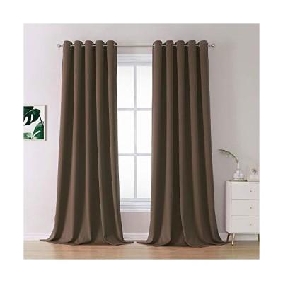 カーテン Coffee Colour Curtains Brown Blackout Curtain Panels 120 Inches Long with Grommet Thermal Insulated Room Darkening Solid Widow