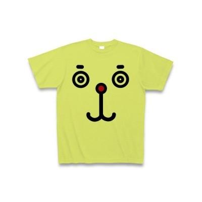 【犬】ドッグフェイス【いぬ】 Tシャツ(ライトグリーン)