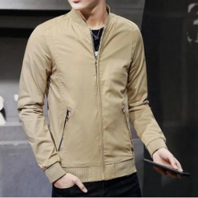 ブルゾン ジャケット 春アウター おしゃれ 無地 カジュアル メンズ 春 秋 フライトジャケット 大きいサイズ  ジャケット