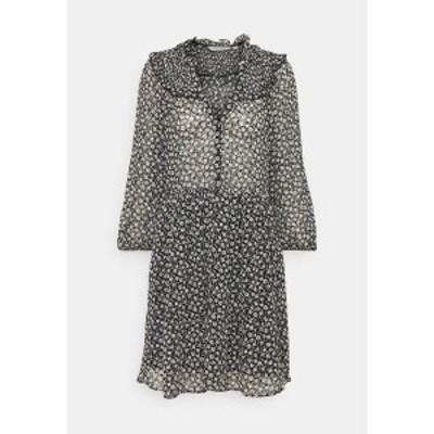 ナフ ナフ レディース ワンピース トップス LAPASTILLETTE  - Day dress - noir/blanc motif noir/blanc motif