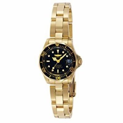 Invicta Women's Pro Diver 24.5mm Gold Tone Stainless Steel Quartz Watch, Gold/Black (Model: 8943)