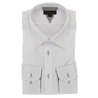 (m.f.editorial/エムエフエディトリアル)形態安定抗菌防臭スリムフィット レギュラーカラー長袖ビジネスドレスシャツ/ワイシャツ/メンズ ホワイト