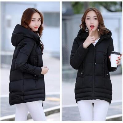 ダウンジャケット中綿コートレディース アウター 軽量 防風 防寒 秋冬 シンプル 女性用 フード付く 大きいサイズ