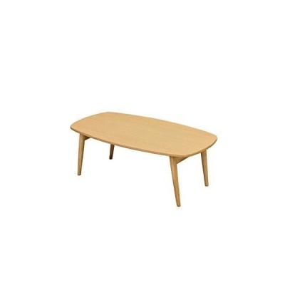 木目調折りたたみローテーブル/センターテーブル [長方形/ナチュラル] 幅90cm 『BONNY』 木製脚 [完成品]
