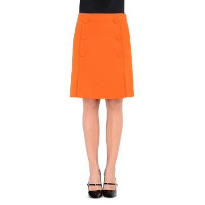 BOUTIQUE MOSCHINO ひざ丈スカート オレンジ 40 100% バージンウール ひざ丈スカート