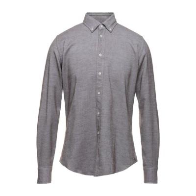 XACUS シャツ ダークブラウン 40 コットン 100% シャツ