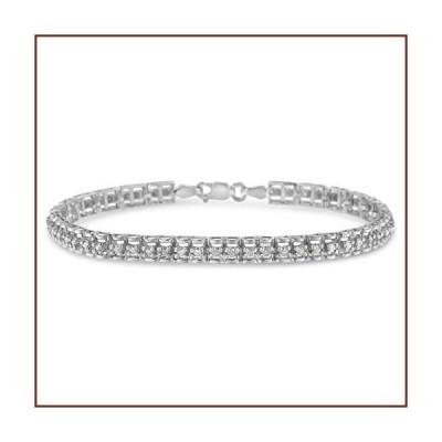 "Original Classics .925 Sterling Silver 1.0 Cttw Rose Cut Diamond Double-Link 7"" Tennis Bracelet (IJ Color, I3 Clarity)【並行輸入品】"