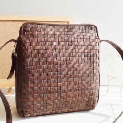 ポニーメッシュ ショルダーバッグ チョコ 本革 馬革 No33165 レディースバッグ 馬革鞄 (鞄 かばん バッグ) ビジネスバッグ カジュアルバッグ