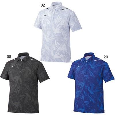ミズノ メンズ ドライエアロフローポロシャツ フィットネス トレーニングウェア トップス 半袖 総柄 上 32MA0521